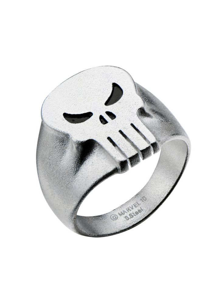 Mens Punisher Skull Ring by Inox Jewelry Stainless Steel gold