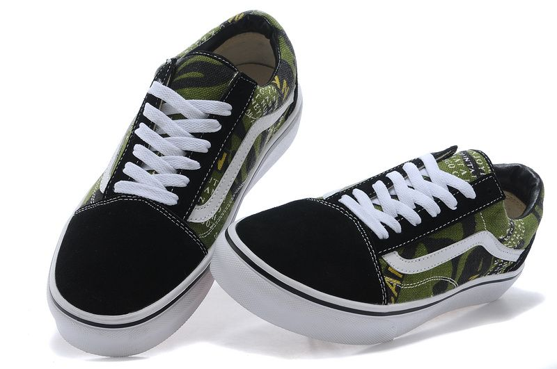 7f7063ed41c9 Vans Vince England Letter Gray Army Green 35-4422  Vans