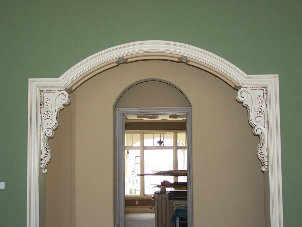 Detailed Trim On Arched Doorway Plus Corbels Archways In Homes Corbels Arch Doorway