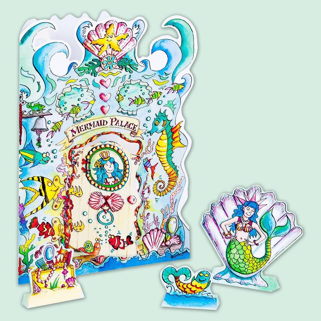 A261 Mermaid Palace Create A Scene Card 200 Each Or 160 Each
