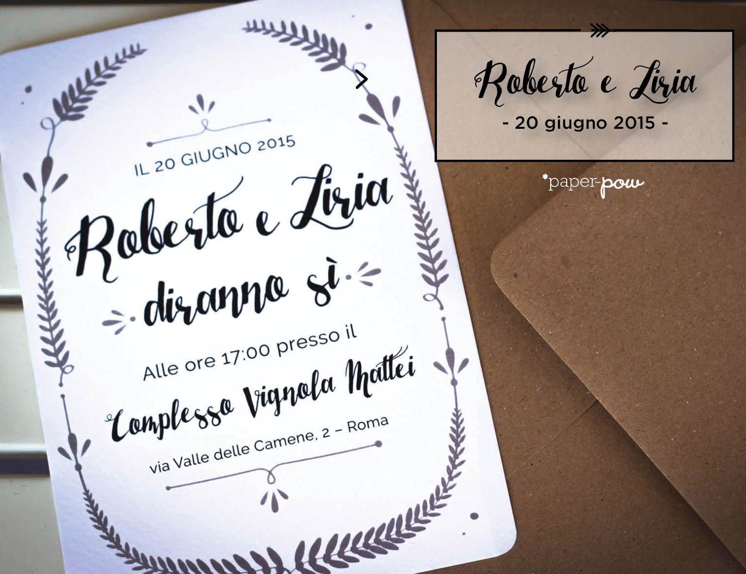 Wedding Invitation by *Paper-pow. Follow us on https://www.facebook.com/paperpow