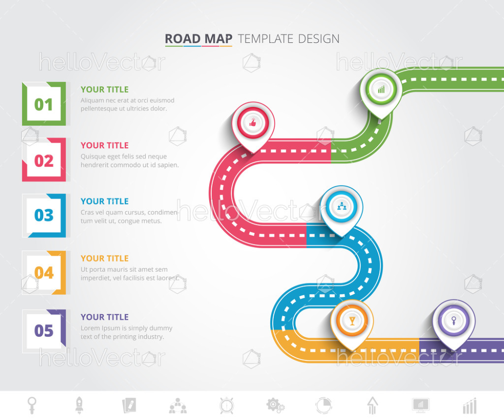 Colorful Roadmap Infographic Template Download Graphics Vectors Roadmap Infographic Infographic Templates Infographic