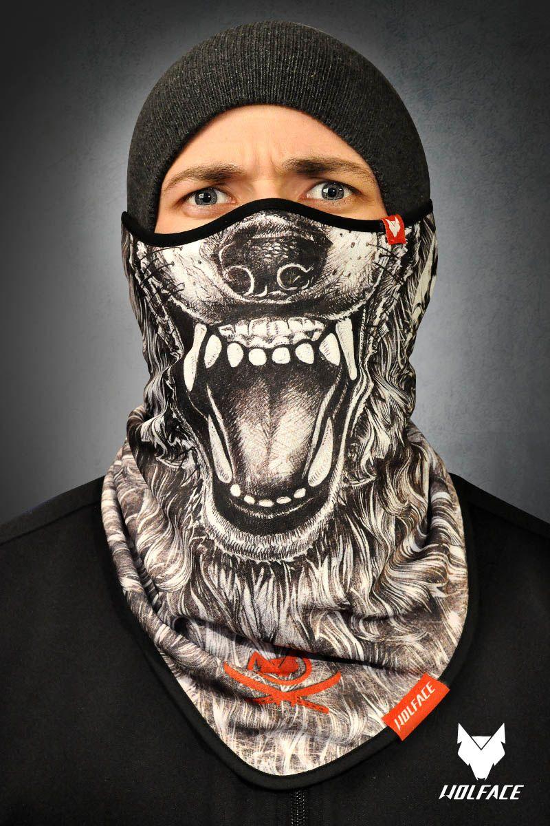 Bandana Wolface: Draw Wolf Bandana for riders Bandana Wolface is ...