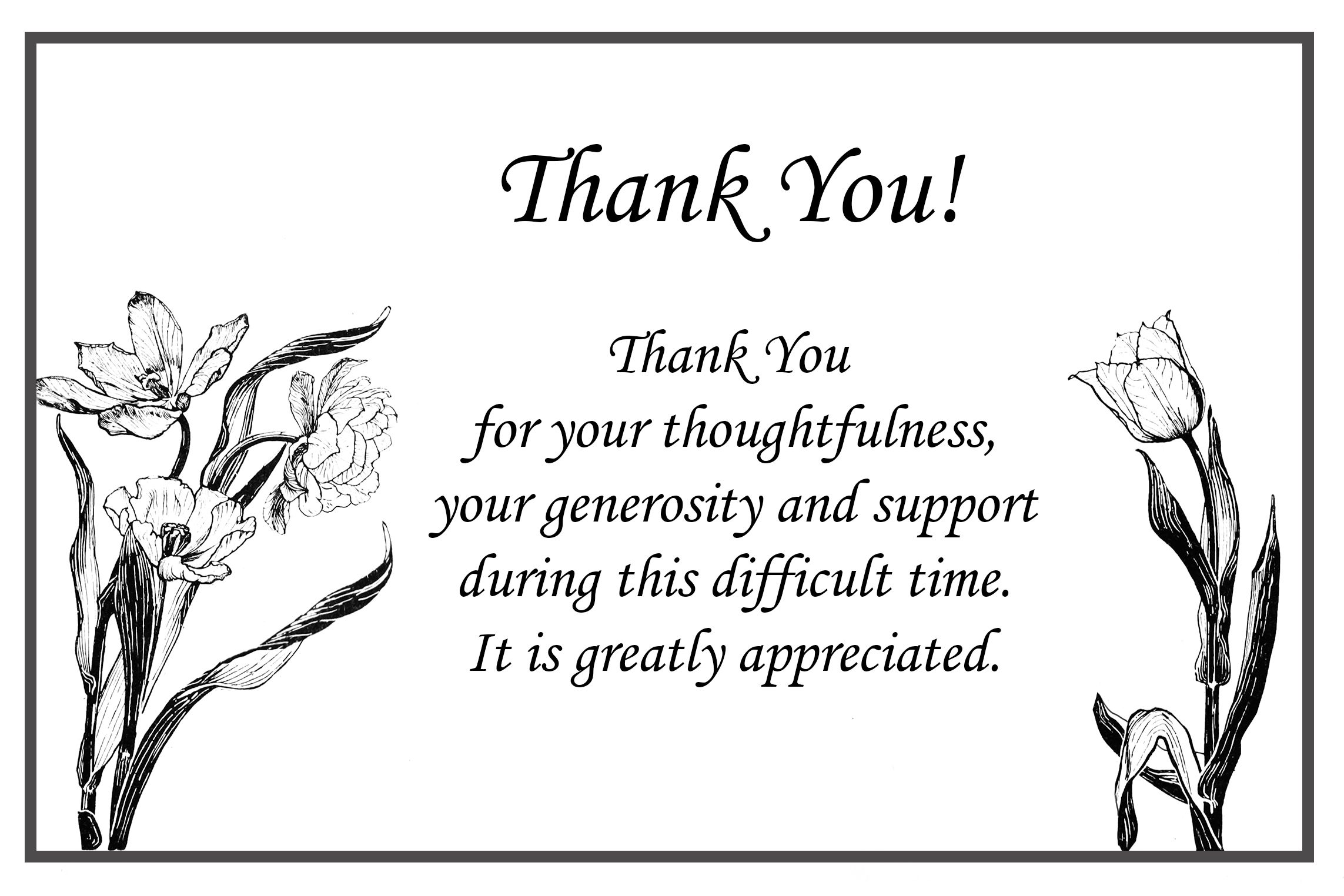 Image result for funeral thank you card ideas funeral