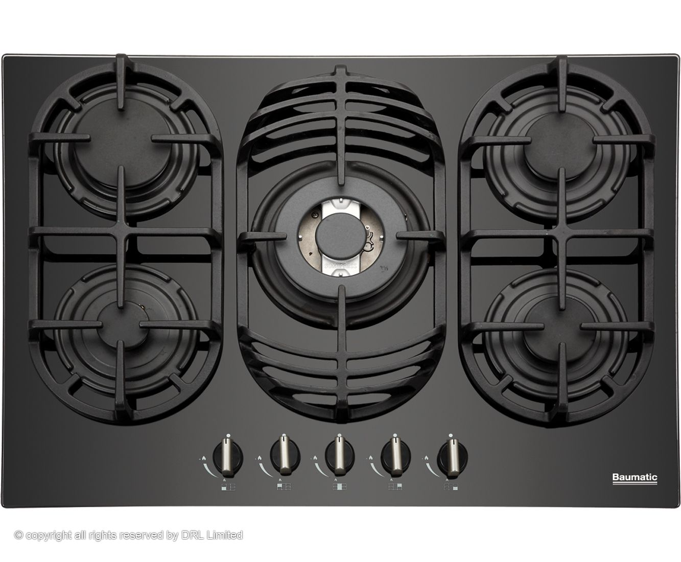 Baumatic Bgg70 70cm Gas Hob Black Hobs Gas Hob Interior Design Basics