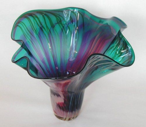 Decorative Blown Glass Bowls Beauteous Hand Blown Glass Bowl Eartharts24  Addicted To Bowls Decorating Inspiration