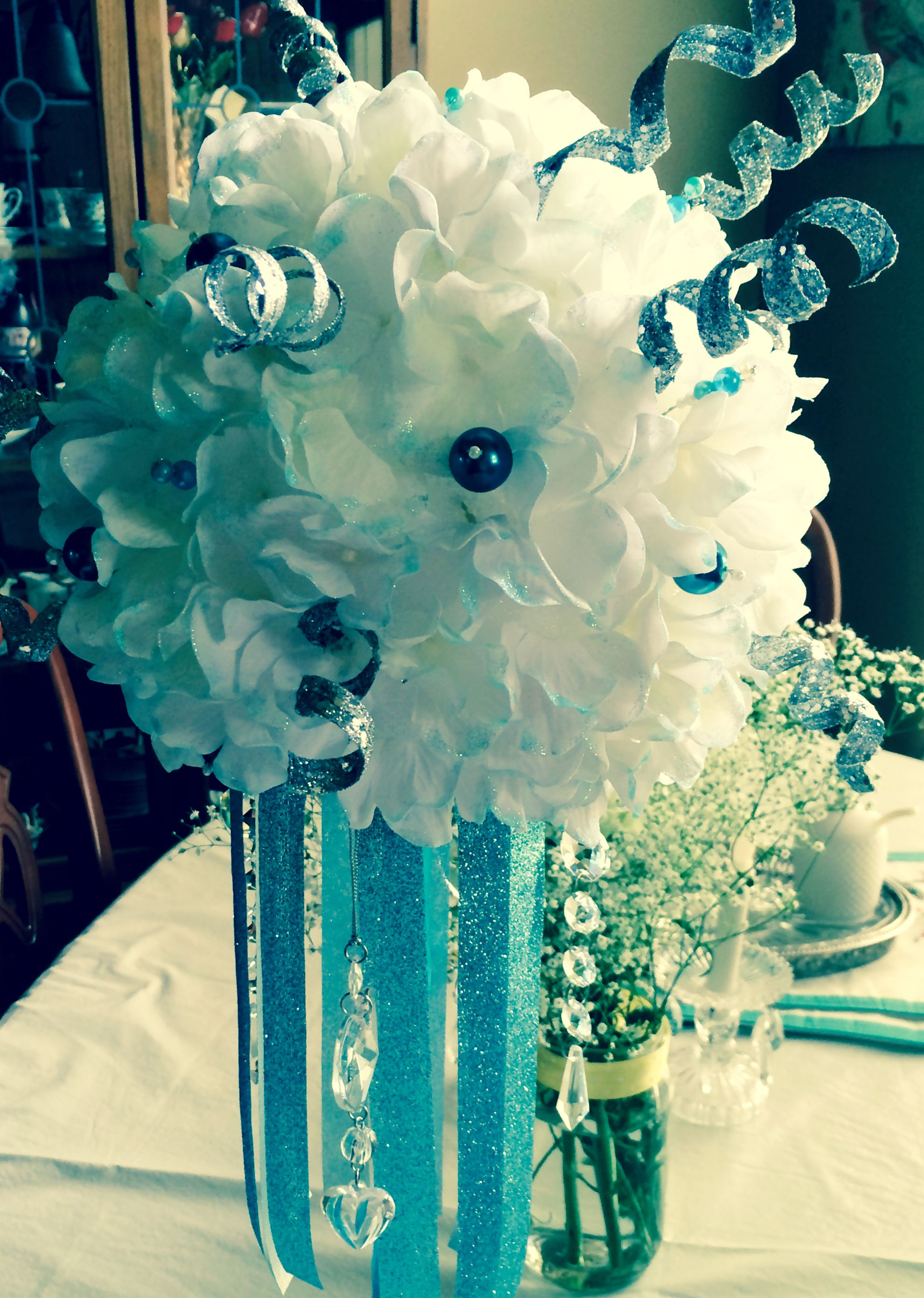 This Centerpiece Was A Story Itself Styrofoam Ball Battery