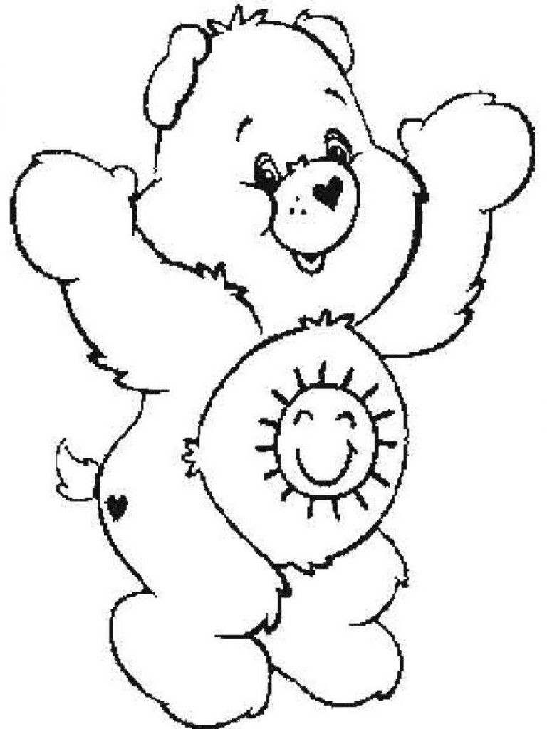 Free Printable Care Bear Coloring Pages For Kids | Care bears, Bears ...
