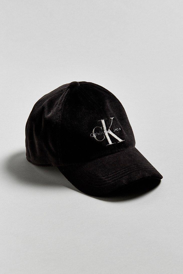 4d66afd34bb Calvin Klein Velvet Baseball Hat