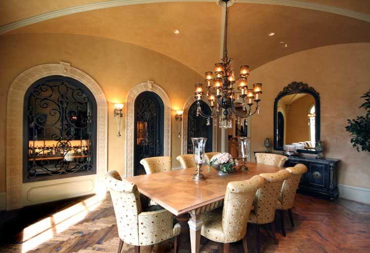 Italian Tuscan Dining Room Designed By Tracy Rasor And Alana Villanueva, Dallas  Design Group Interiors