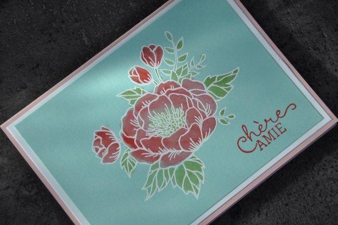 Carte pour la fête des Mamies avec le set de tampons fleurs d'anniversaire par Marie Meyer Stampin up - http://ateliers-scrapbooking.fr/ - Birthday Blooms Stamp - Geburtstagsblumen Stempel