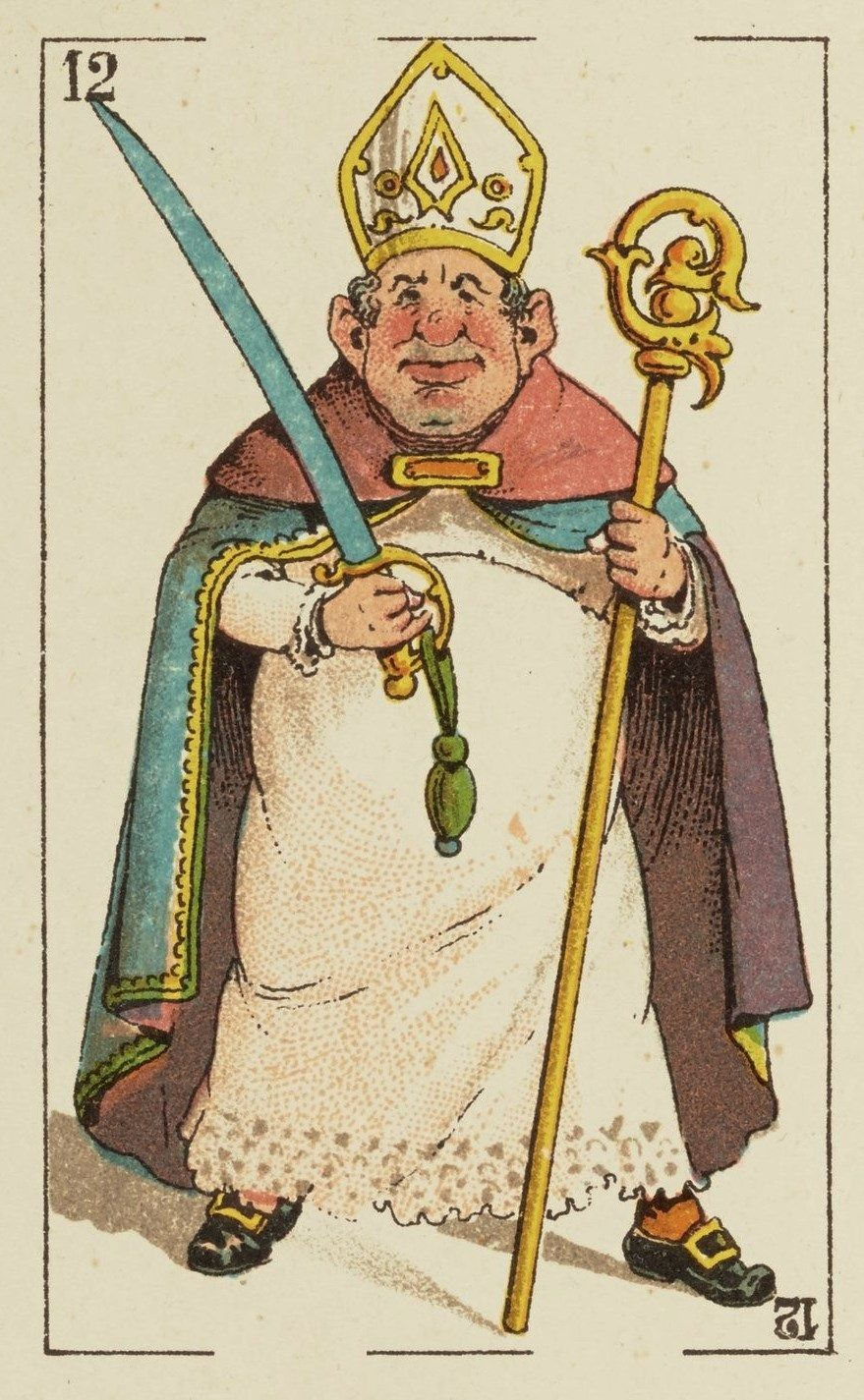 """Baraja mistica"" - c. 1870 - rey de espadas"