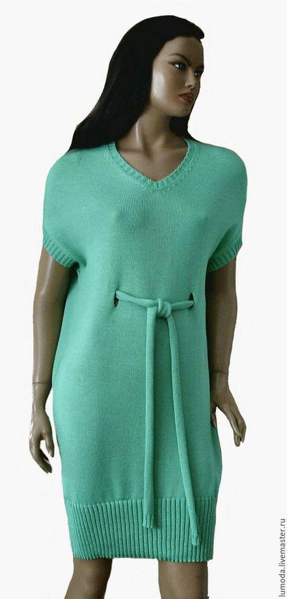 c4ebabde8a6 Платья ручной работы. Ярмарка Мастеров - ручная работа. Купить Платье  вязаное. Handmade. Мятный