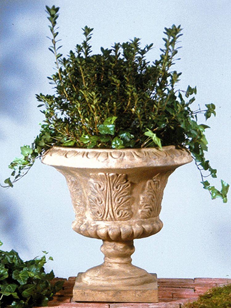 Beautiful Prairie Garden Urn Planter Orlandi Statuary Made of Fiberstone FS098