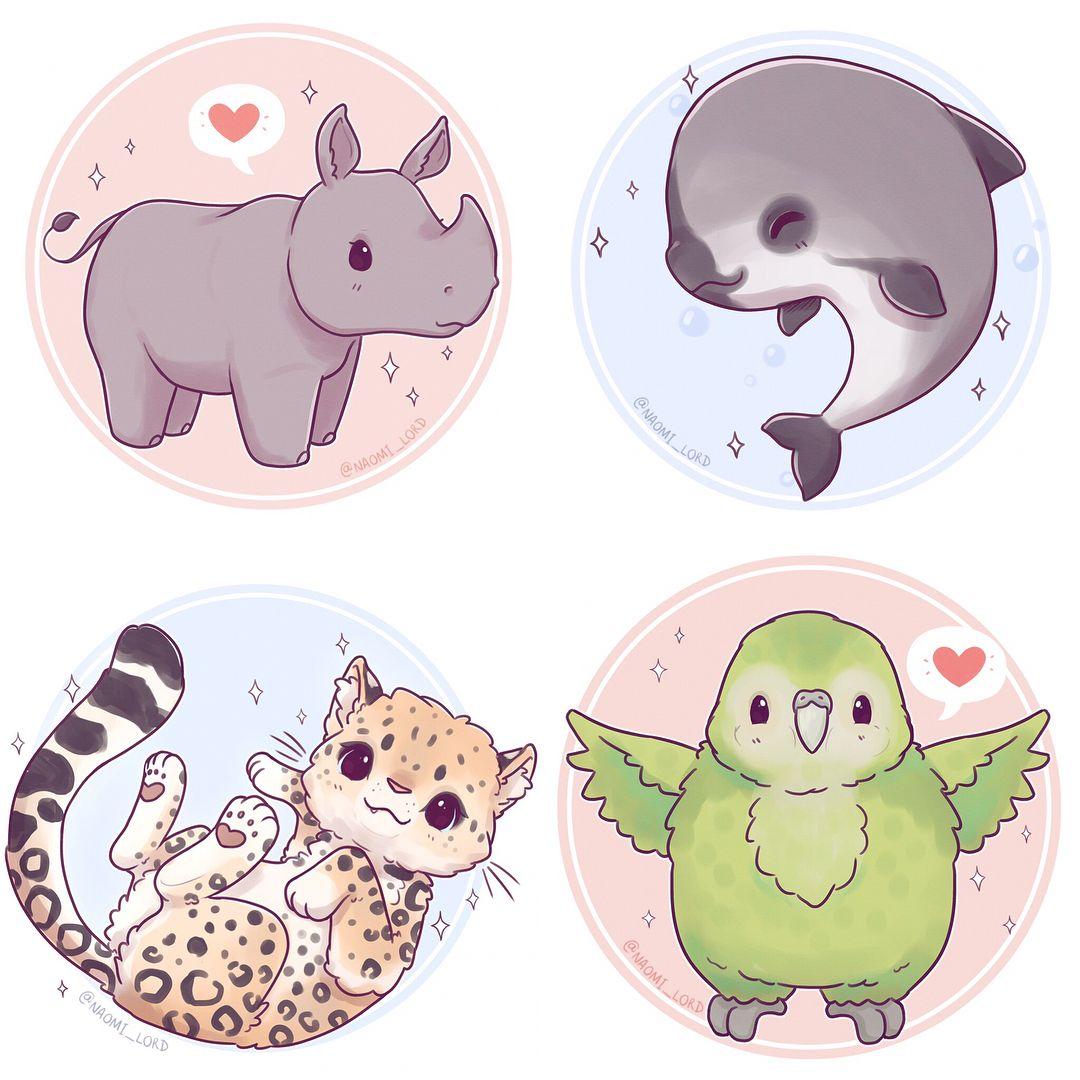 Pin by Ashlyn kowal on drawings Cute animal drawings