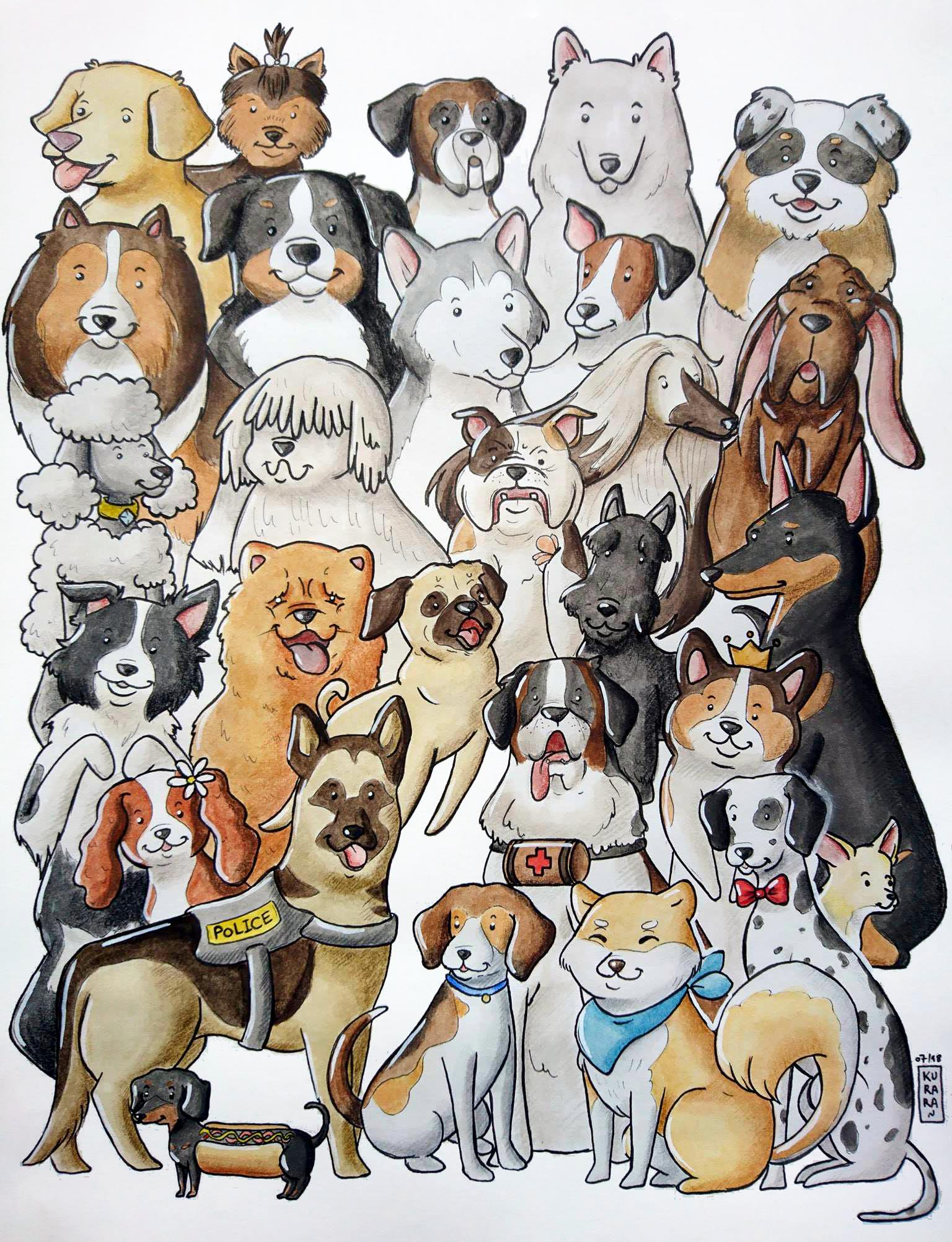 Some Dogs Dibujo De Perro Carteles De Animales Dibujos De Perros