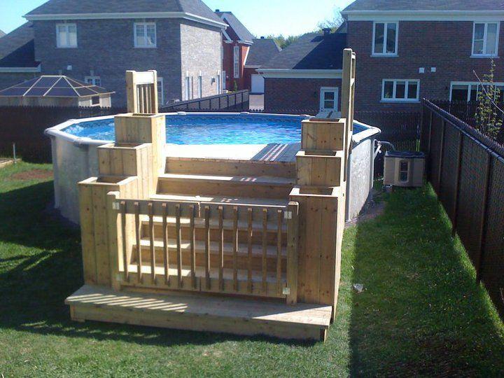 exemple de deck piscine deck hors terre Pinterest Decking - fabriquer sa piscine en bois