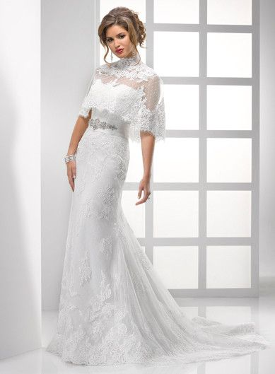 white_strapless_mermaid_strong_style_color_b82220_lace_dress_strong_long_wedding_bridal_gown_with_bow.jpg (389×529)