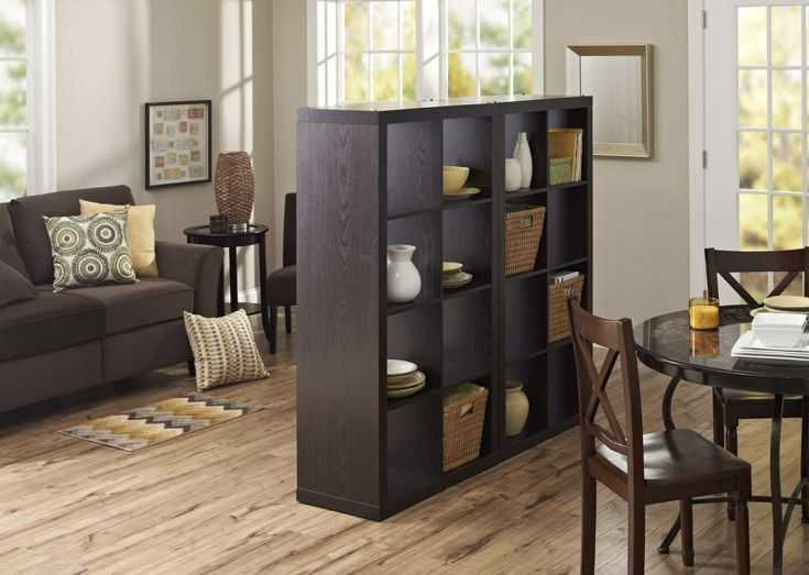 Combine Two Of Our 8 Cube Organizers For A Room Divider That Provides Extra Storage And Decorating Space Apartment Decor Divider Design Living Room Divider