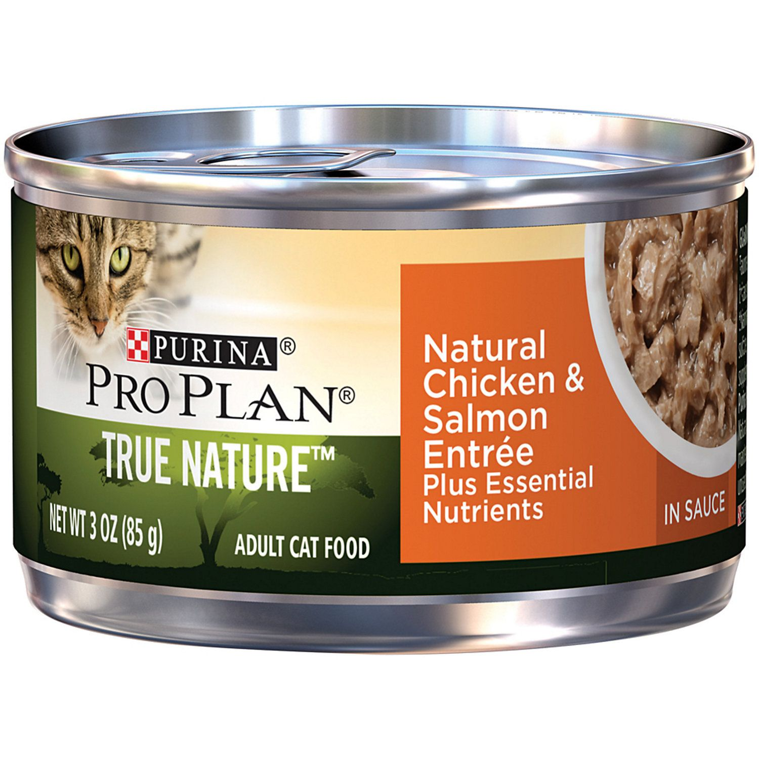 Purina Pro Plan Natural Chicken Salmon Entree In Sauce Wet Cat Food 3 Oz Case Of 24 Canned Cat Food Cat Food Food
