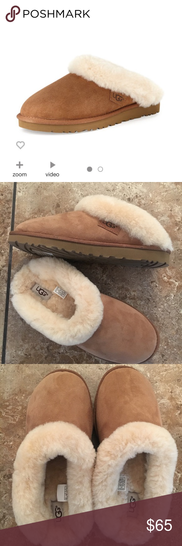 b0f61e1875093 Brand NEW UGG Cluggette Shearling slide slipper NWOT ugg Shearling Suede  and Shearling slipper. So cozy and warm. Fits true to size women's 9. No  box.