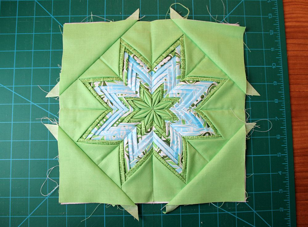 47a52f635f Fancy Folded Star «  Moda Bake Shop.  Really cool idea of using up scraps  and making a nice block!
