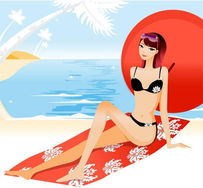 Cartoon in bikini