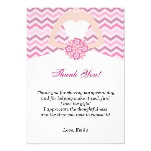 bridal shower thank you template bridal shower thankyou template