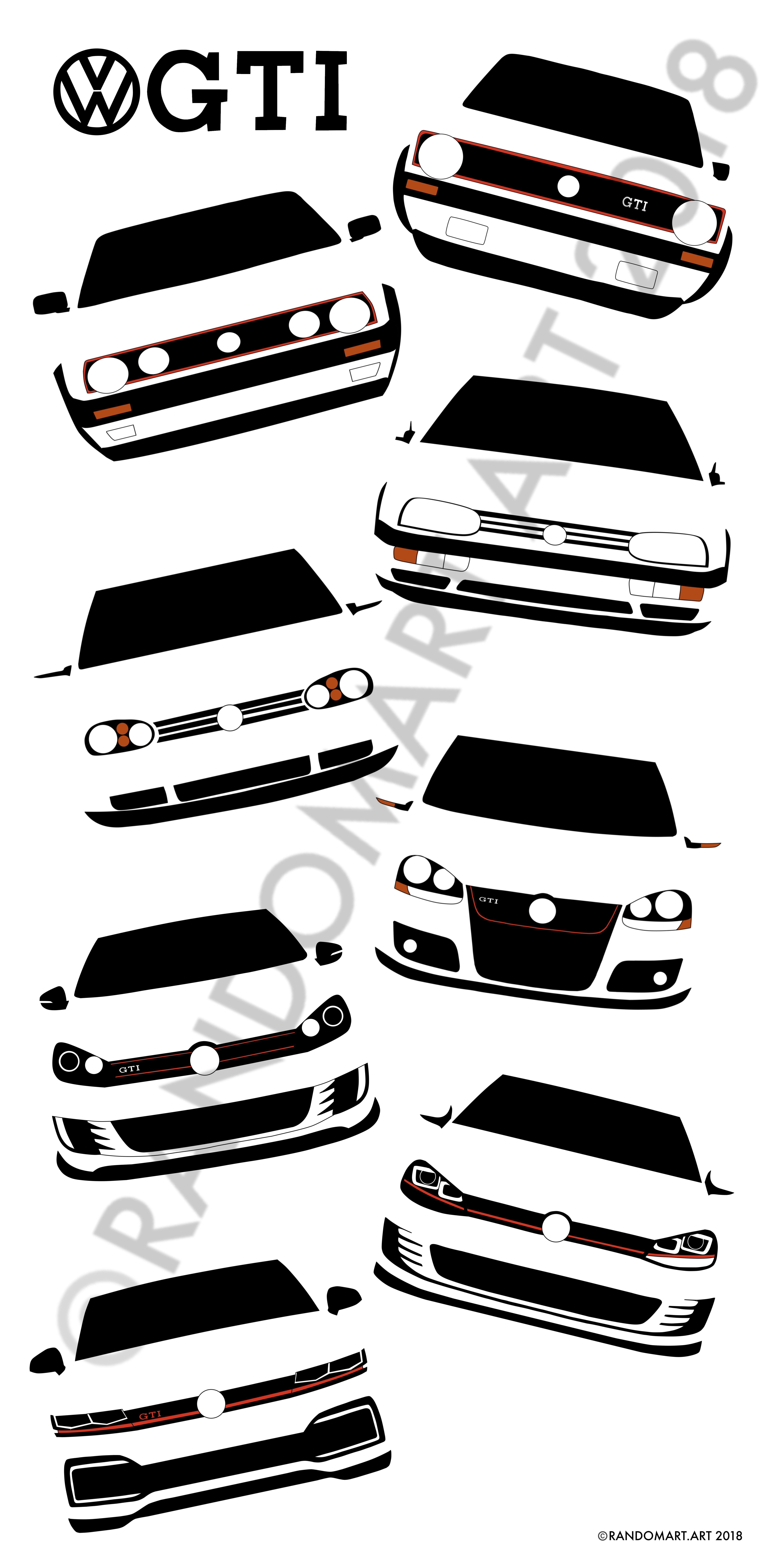 Vw Golf Gti Mk1 To Mk8