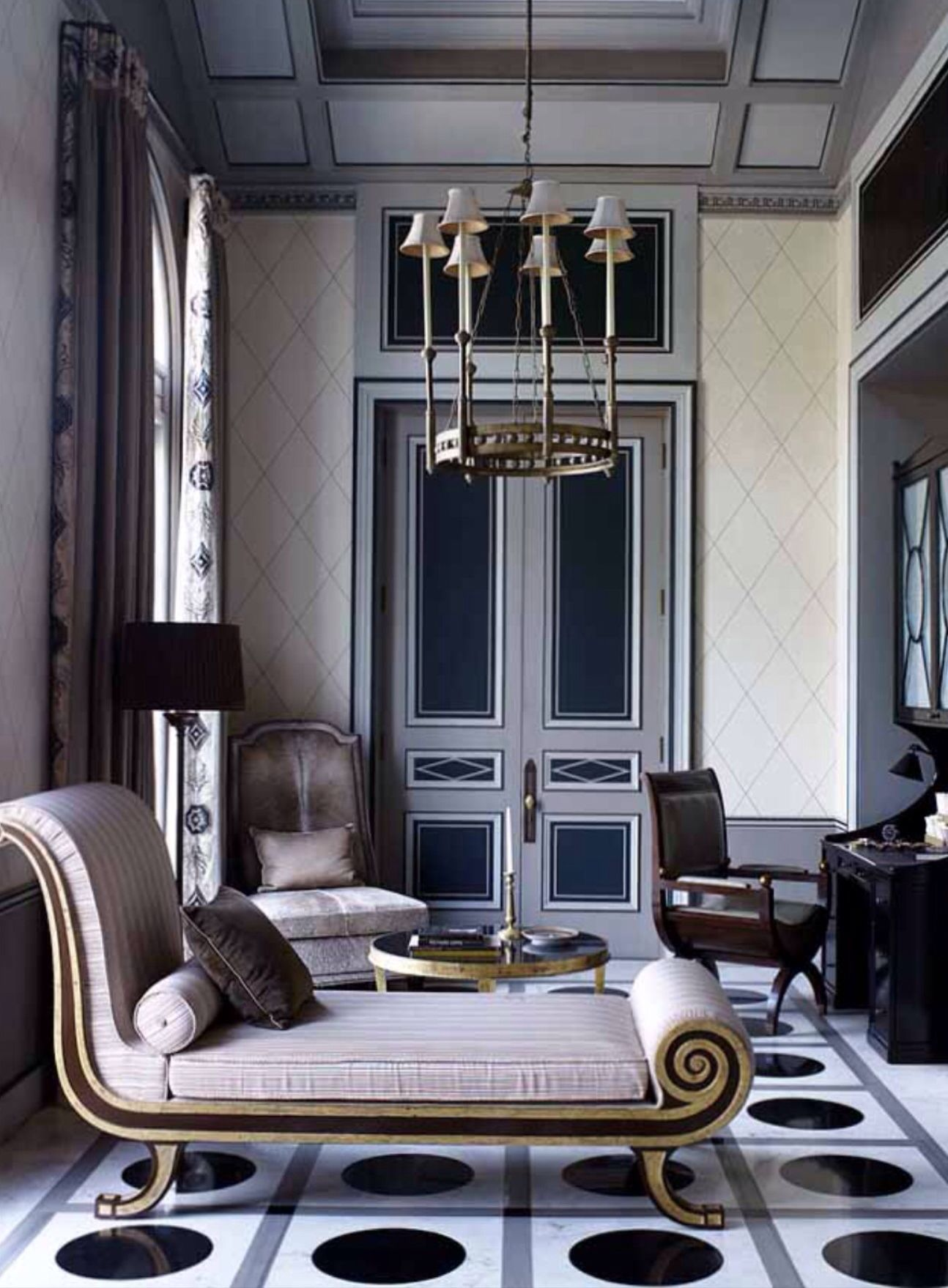 Room designed by jean louis denoit accessorize the room