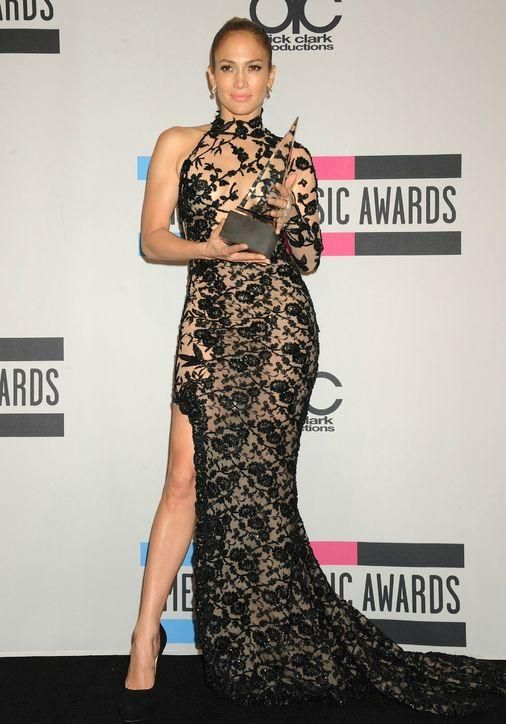 Jennifer Lopez's best sheer dresses ever: David Koma at the 2011 American Music Awards