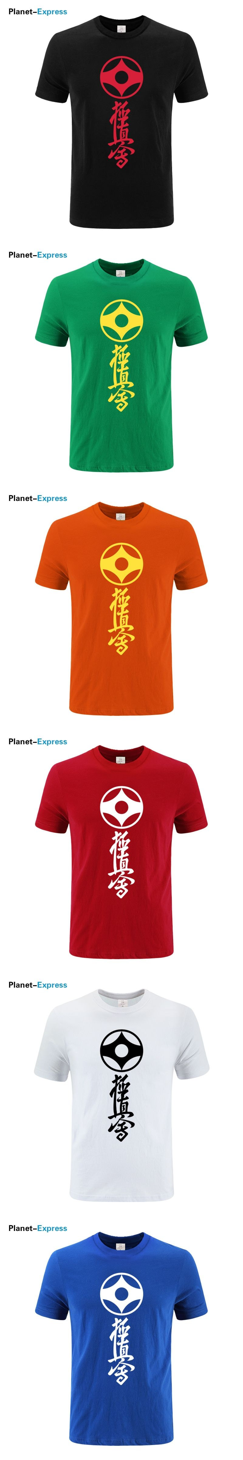 New Summer Kyokushin Karate T Shirts Men 100%Cotton US Size T Shirts Short  Sleeve Men Japan Karate T-shirt Plus Size Tee Tops 293dcd017f