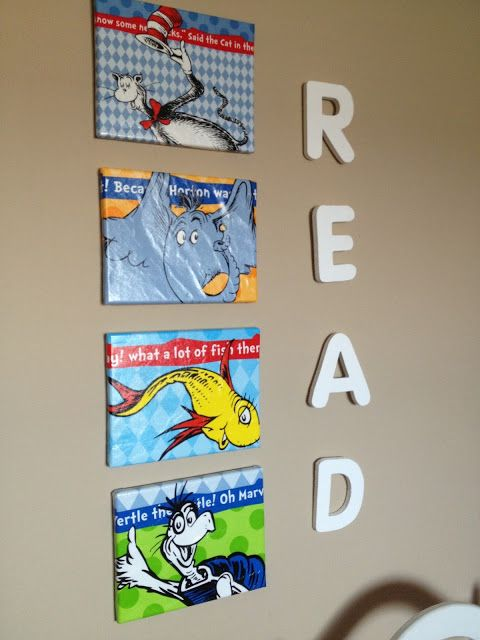 Dr.Seuss Canvas Wall Art   Easy