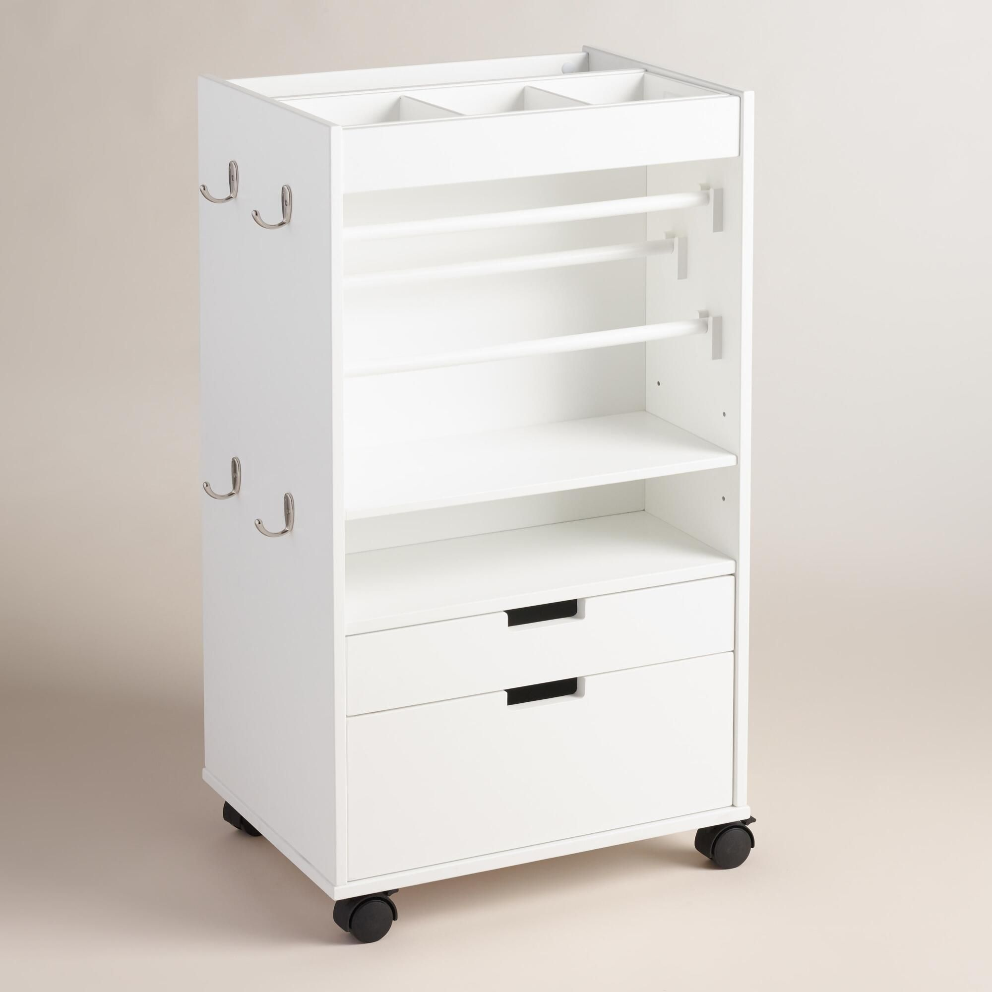Rolling craft cart with drawers - Rolling Craft Cart