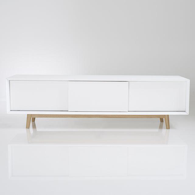 tv bank jimi vintage style 3 schiebet ren living. Black Bedroom Furniture Sets. Home Design Ideas