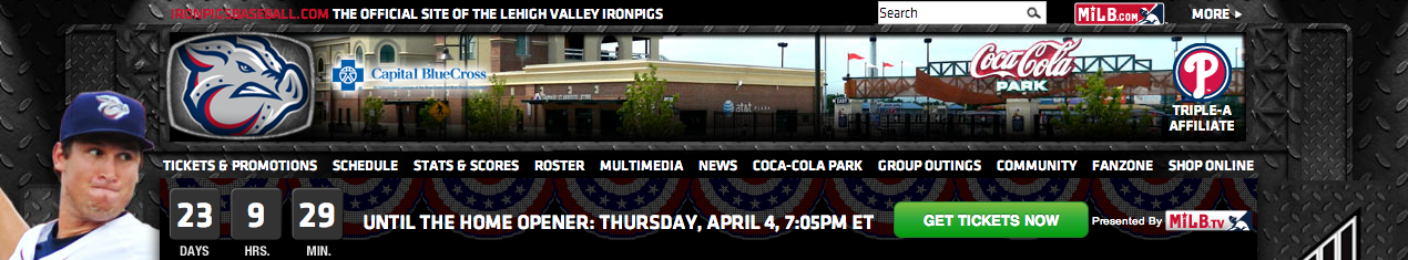 Check out our new countdown to Opening day! www.ironpigsbaseball.com
