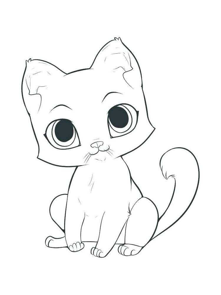 Anime Kitten Coloring Pages The Kitten Is A New Born Little Cat This Term Is Used For Cats Under The Age O In 2020 Anime Kitten Sleeping Kitten Animal Coloring Pages