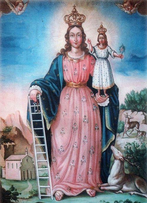 La Virgen de la Escalera (Madonna di la Scala): sus peldaños son los que nos ayudan a subir al Cielo.