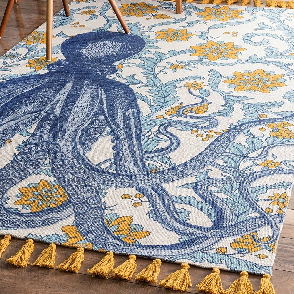 50 Octopus Rugs And Octopus Area Rugs For 2020 Beachfront Decor Nautical Area Rugs Octopus Rug Area Rugs