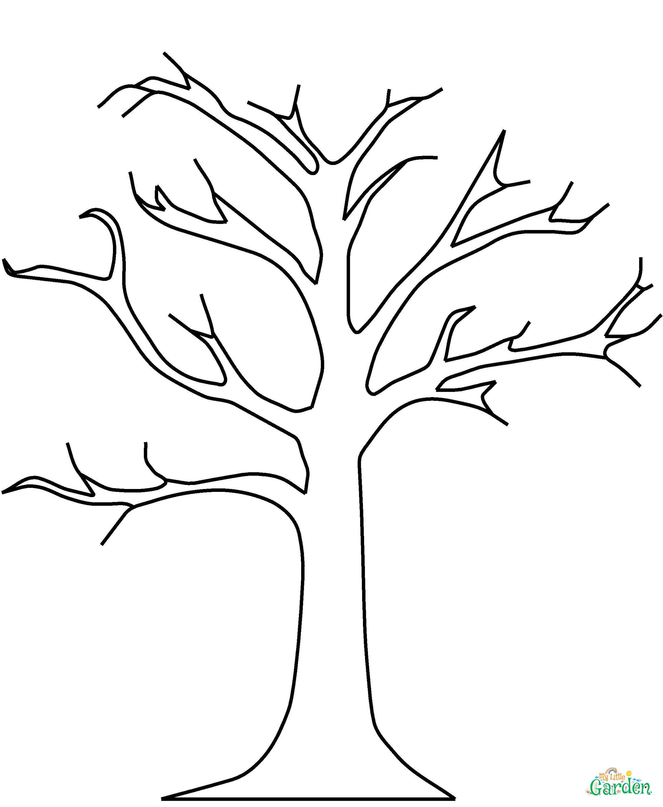 malvorlage baum kostenlos 01 art simple drawings mit