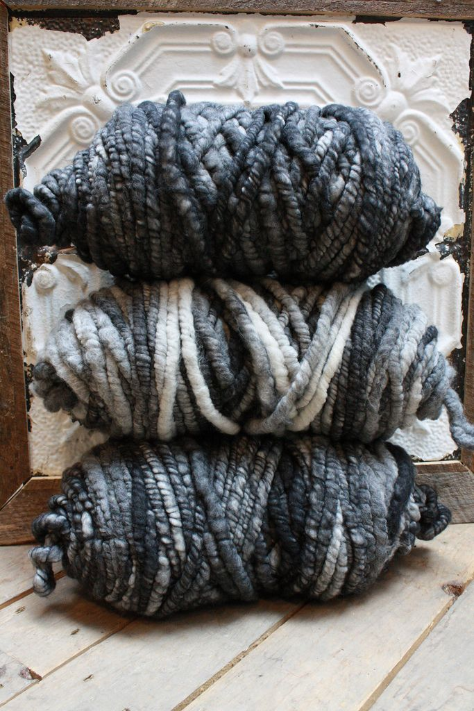 Dark variegated Big Loop Yarn for chunky knits, knitted rugs and knit blankets $198 for one 40 oz skein at Loopy Mango - SoHo Boutique - 78 Grand St., New York - Product