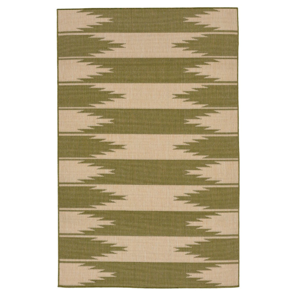 "Terrace Indoor/Outdoor Taos Rug 4'10""X7'6"" Green - Liora Manne"