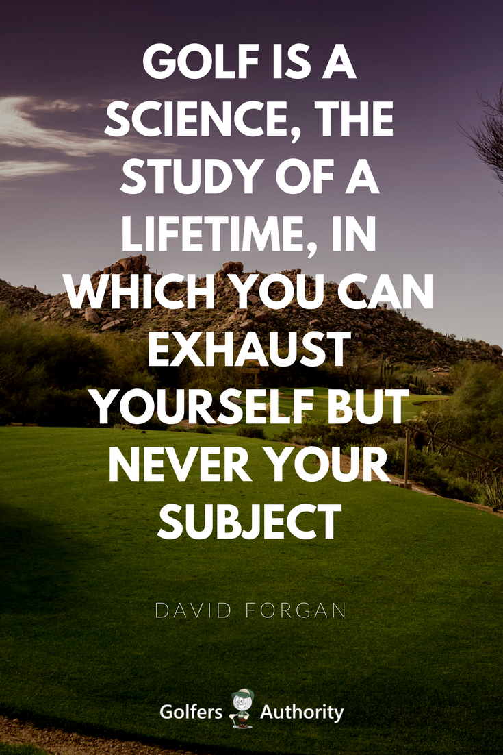 Inspirational Quotes About Golf With Images. Can words