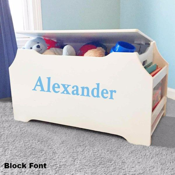 Personalized Dibsies Kids Toy Box With Book Storage White For Boys Kids Toy Boxes Toy Boxes Personalized Toys