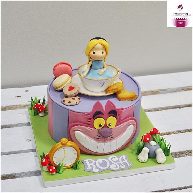 Il Compleanno Di Rosa Alice In Wonderland Cake By Cakemesweet Cake
