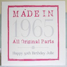 Personalised Handmade Age Birthday Card Female 18th 21st 30th 40th 50th ANY YEAR In Crafts Cardmaking Scrapbooking Hand Made Cards