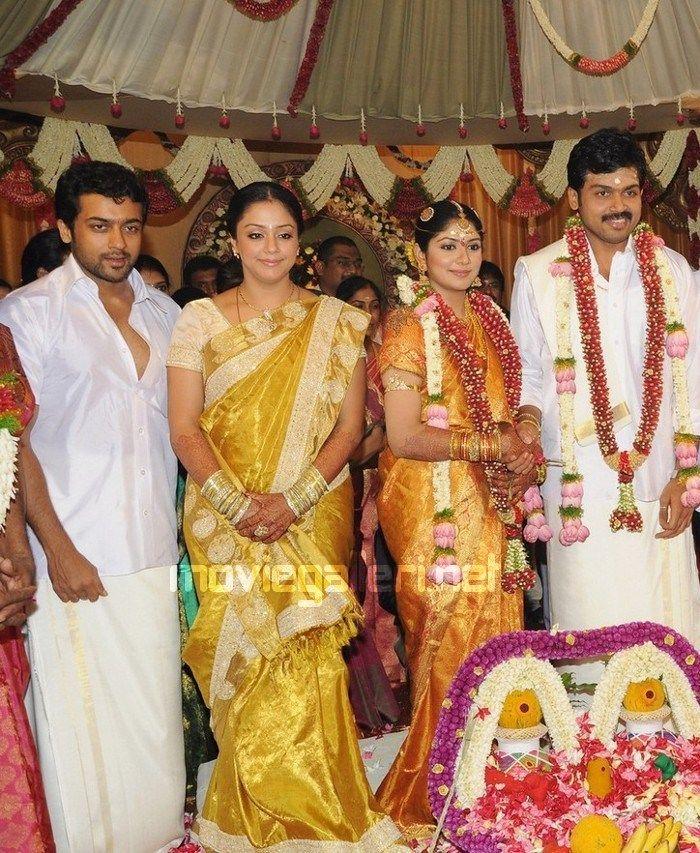 Surya Jyothika Photos In Karthi Marriage