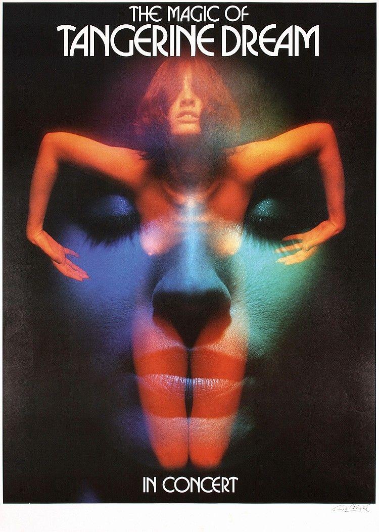 Original 1976 SIGNED KIESER Rock Poster TANGERINE - by