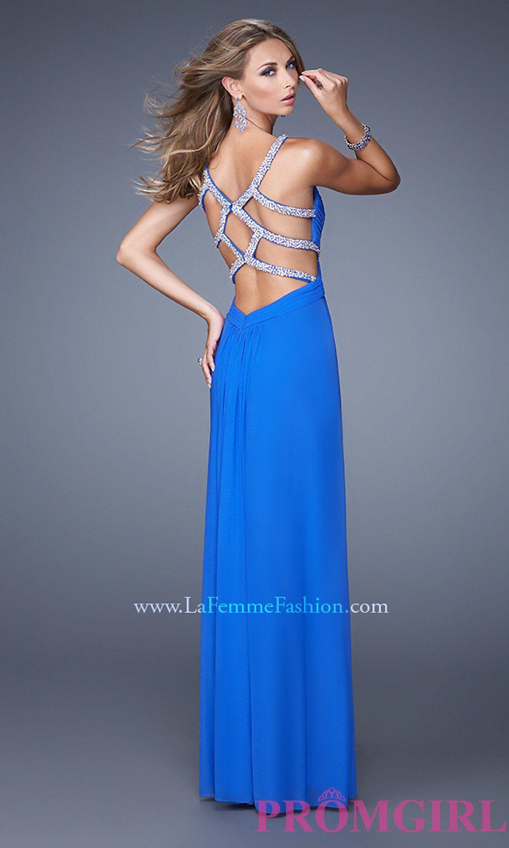 Floor Length La Femme Prom Dress with Beaded Back LF-21021 | dresses ...