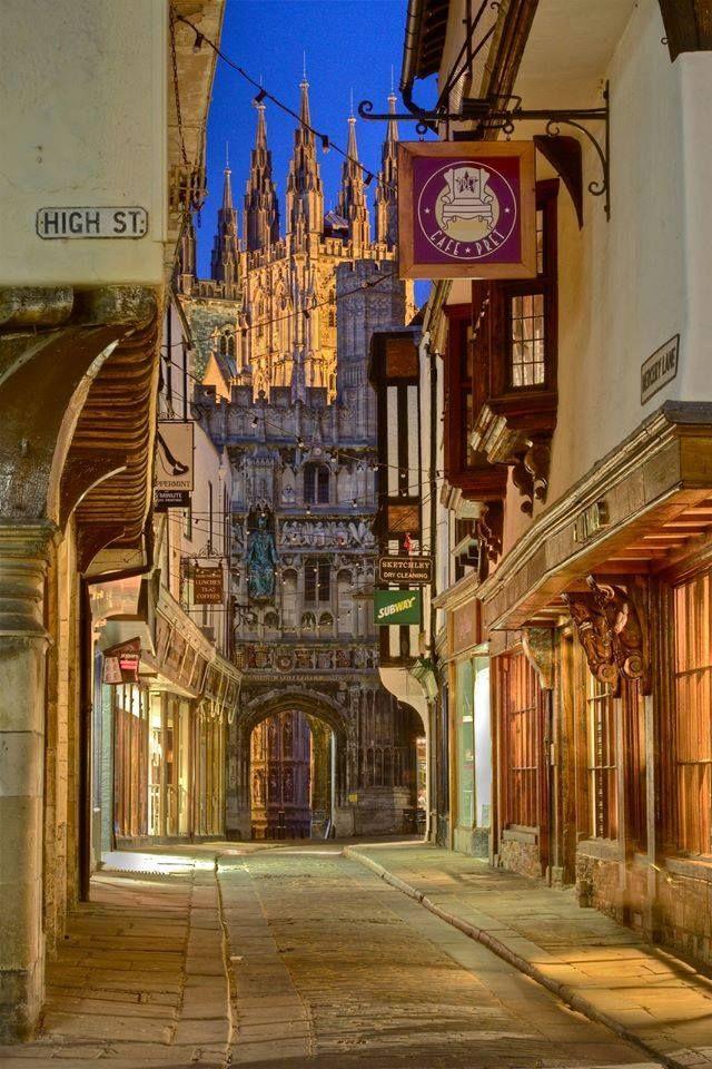 Inghilterra-per le vie di Canterbury,Contea del Kent